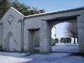 Lycée sous la neige